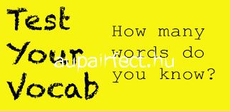 Angol online szókincs teszt