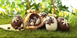 Eastern in Britain chocolate eggs