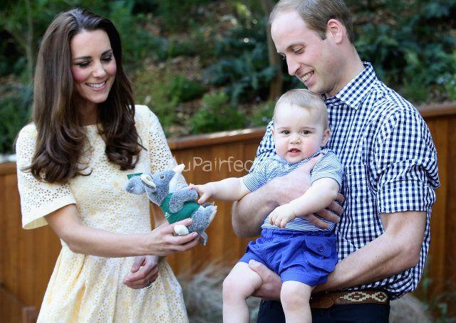 Angol hercegi pár családja
